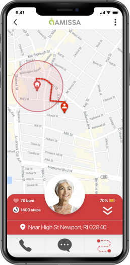 GPS Tracker for Dementia and Alzheimer's Wandering